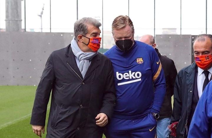 لابورتا يضع شرطا أمام كومان لحسم إقالته من تدريب برشلونة