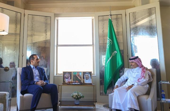 وزير الخارجية السعودي يجتمع بنظيره القطري في نيويورك