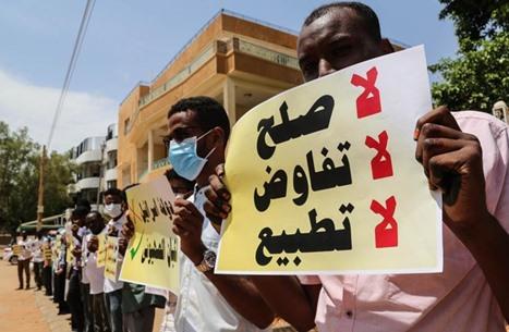 المعارضة السودانية ترفض التطبيع وتدعو للنزول إلى الشارع