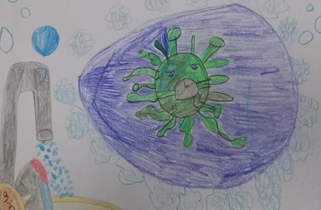 هكذا حوّل الأطفال كورونا إلى ذات من ألوان (صور)