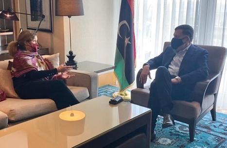السراج والمبعوثة الأممية يبحثان الحل السياسي بليبيا