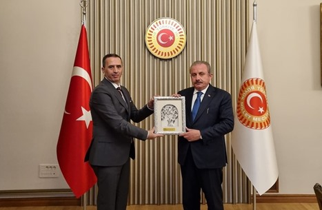 رئيس البرلمان التركي يلتقي مساعد راشد الغنوشي بأنقرة