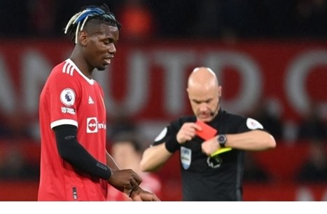 مانشستر يونايتد يحرم من نجمه بوغبا بعد طرده أمام ليفربول