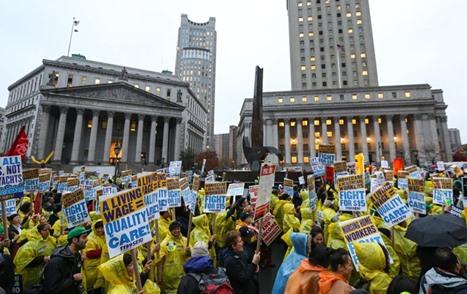 مظاهرات في أمريكا تطالب برفع أجور العمال - 07- مظاهرات في أمريكا تطالب برفع أجور العمال - الاناضول