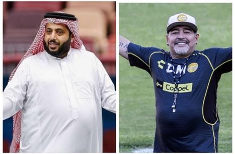تركي آل الشيخ يهاجم منتقدي الحياة الخاصة لمارادونا