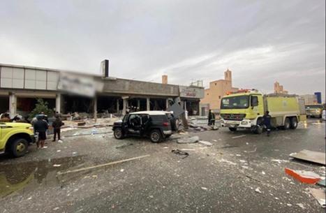 قتيل وإصابات بانفجار نجم عن تسرب غاز بمطعم بالرياض (شاهد)