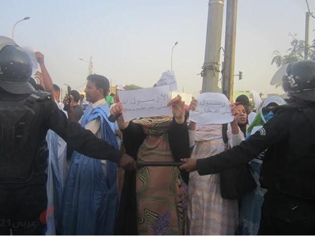 مسيرة في نوكشوط ضد شارلي ايبدو - unnamed (3)