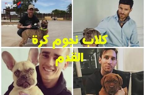 تعرف على أشكال كلاب نجوم كرة القدم العالميين (فيديو)
