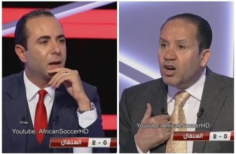 معلول ينفعل بشدة بوجه مقدم تلفزيوني بعد هزيمة تونس (فيديو)