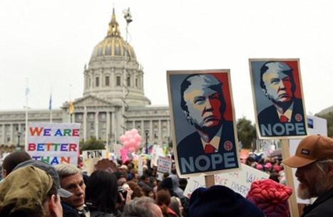 مظاهرات عارمة في عدة مدن أمريكية ضد ترامب (فيديو+صور)