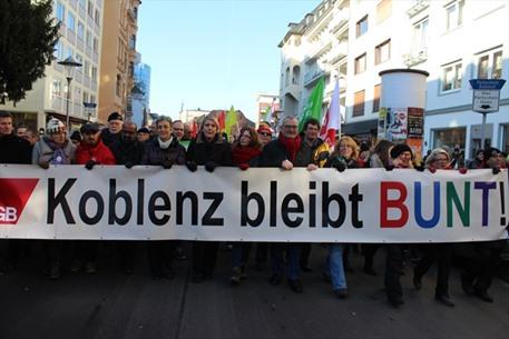 احتجاجات في المانيا ضد عقد مؤتمر تحالف يميني متطرف - 04- احتجاجات في المانيا ضد عقد مؤتمر تحالف يمين