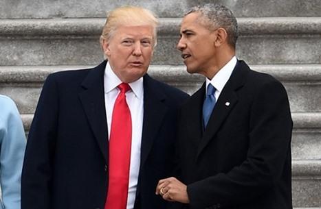 """ترامب: وجدت في البيت الأبيض رسالة """"رائعة"""" من أوباما"""