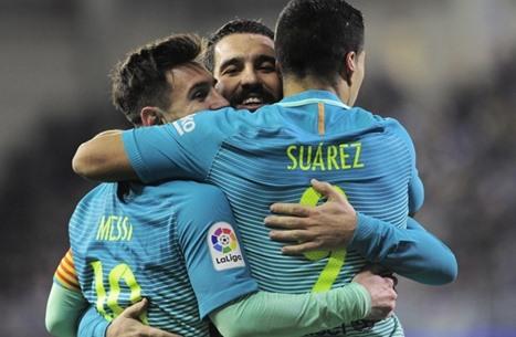 برشلونة يفوز برباعية وإشبيلية ينتفض في الدوري الإسباني