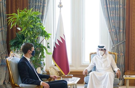 أمير قطر يستقبل كوشنر في الدوحة بعد زيارته للرياض
