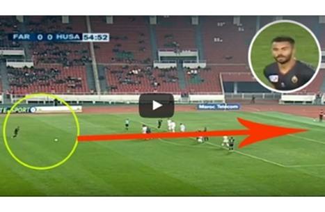 """لاعب مغربي يسجل هدفا صاروخيا على طريقة """"الدون"""" (فيديو)"""