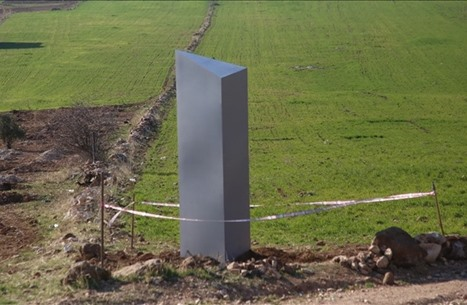 """""""العمود المعدني"""" الغامض يظهر في تركيا (شاهد)"""