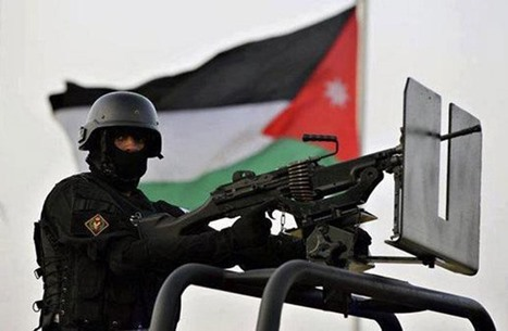 الأمن الأردني يعتدي بوحشية على متظاهرين قرب سفارة الاحتلال