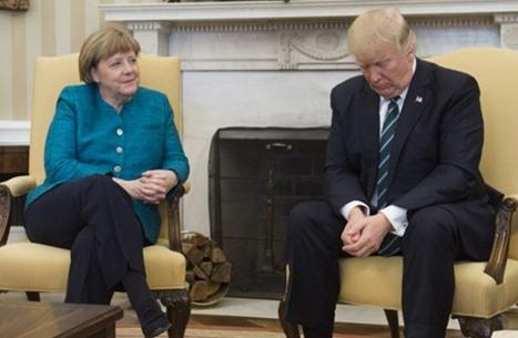 """الموندو"" تحلل تصرف ترامب مع ميركل: ""دونالد ضد ترامب"""
