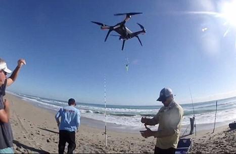 صيادون مبدعون يستخدمون طائرات مسيّرة (صور وفيديو)