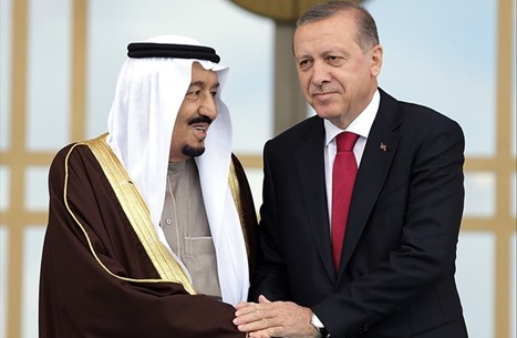 أردوغان والملك سلمان يبحثان العلاقات الثنائية
