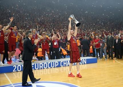 غلطة سراي التركي بطل كأس أوروبا بالسلة - 03- غلطة سراي التركي بطل كأس أوروبا بالسلة - الاناضول