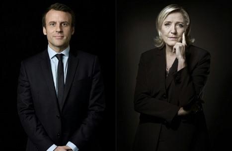 ماكرون ولوبان إلى الجولة الثانية لانتخابات الرئاسة الفرنسية