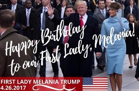 خطأ لترامب يجعل تهنئته لزوجته بيوم ميلادها مثارا للسخرية
