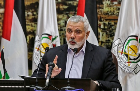 وزير خارجية قطر يبحث مع هنية مستجدات القضية الفلسطينية