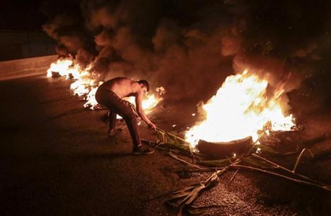 بيروت.. إصابة 4 محتجين في اشتباك مع حرس وزير (شاهد)