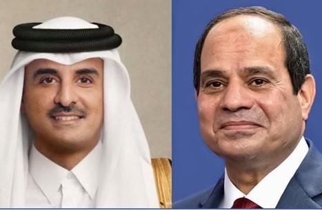 """اتصال بين أمير قطر والسيسي يعد الأول منذ """"المصالحة"""""""