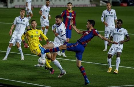 برشلونة يدك شباك خيتافي بخماسية وينفرد بالمركز الثالث