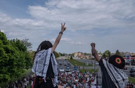 تظاهرات مؤيدة للفلسطينيين في مدن أمريكية عدة (شاهد)