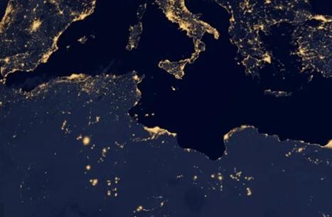هكذا بدا نهر النيل والقاهرة بصورة ليلية من الفضاء (صور)