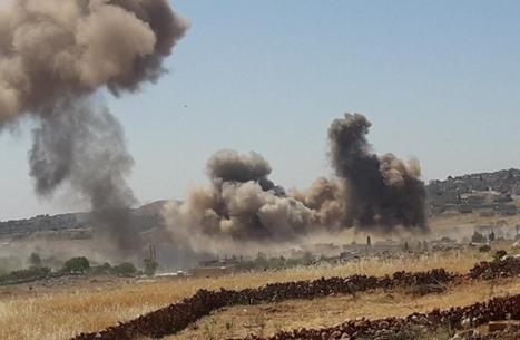 """المعارضة تسقط """"مسيرة"""" للنظام.. وقصف متبادل بإدلب"""