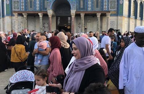 صلاة عيد الفطر في الأقصى 5-6-2019 - أجواء العيد في الأقصى (19)