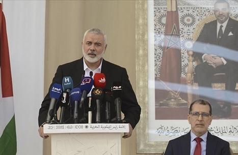 ملك المغرب يقيم مأدبة عشاء لوفد حماس بقصر الضيافة (شاهد)