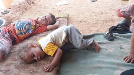 معاناة لاجئين بمخيم الرقبان في الأردن بسبب ارتفاع درجات الحرارة - 01-معاناة لاجئين بمخيم الرقبان في