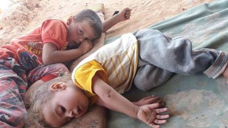 معاناة لاجئين بمخيم الرقبان في الأردن بسبب ارتفاع درجات الحرارة - 03- معاناة لاجئين بمخيم الرقبان في