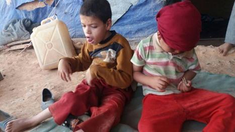 معاناة لاجئين بمخيم الرقبان في الأردن بسبب ارتفاع درجات الحرارة - 07- معاناة لاجئين بمخيم الرقبان في