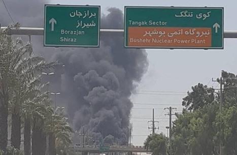 حريق في ميناء بوشهر الإيراني يطال سبع سفن (شاهد)