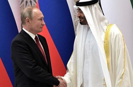 بوتين وابن زايد يؤكدان على الحل السلمي للأزمة الليبية
