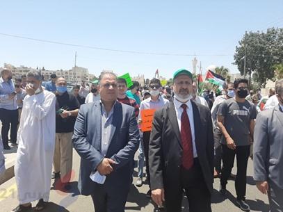 مسيرة السفارة الأمريكية في الأردن - IMG-20200703-WA0009