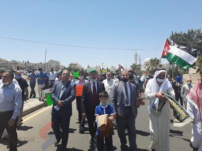 مسيرة السفارة الأمريكية في الأردن - IMG-20200703-WA0010