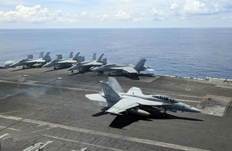 """البحرية الأمريكية تنفي صلة """"حاملة الطائرات"""" باغتيال """"زاده"""""""