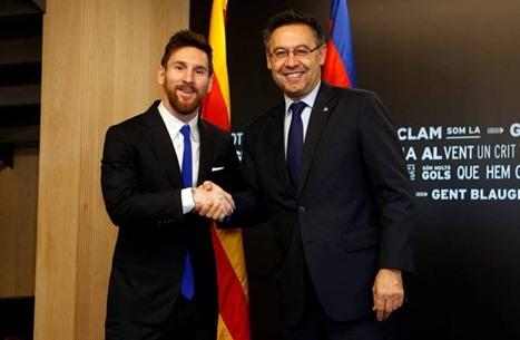 هل سيرحل ميسي عن برشلونة؟.. رئيس النادي يوضح