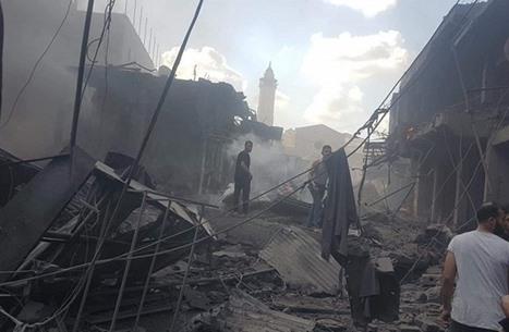 قتيل وإصابات إثر انفجار داخل سوق وسط غزة (شاهد)