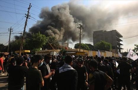 انفجار مخزن أسلحة لأحد فصائل الحشد الشعبي بالعراق (شاهد)