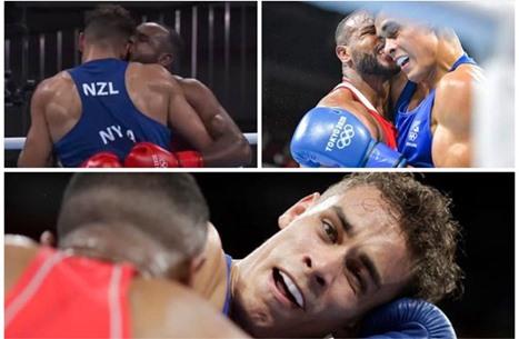 """ملاكم مغربي """"يعض"""" أذن نظيره النيوزيلندي بأولمبياد طوكيو"""