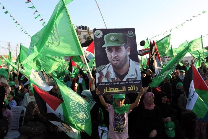 """احتفالات بالضفة الغربية تحت شعار """"شعب يصنع نصره"""" - aa_picture_20140830_3166091_web"""