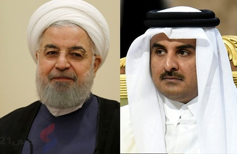 روحاني يبحث مع أمير قطر خطر تطبيع دول عربية مع الاحتلال